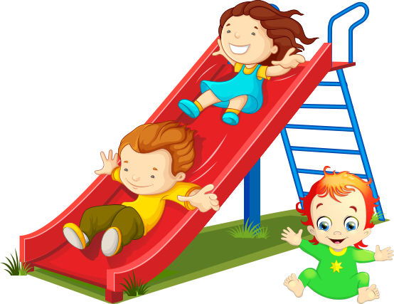 kids playing on slide